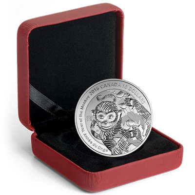 2016 $10 Fine Silver Coin - Year of the MONKEY